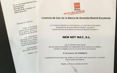 "NEW NET WAY obtiene el sello ""Madrid Excelente"""
