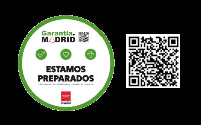 NNW obtiene de Garantía Madrid, el Identificativo de Medidas de cumplimiento frente al COVID-19